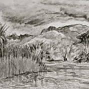 Weather Over Agua Caliente Art Print