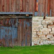Weathered Barn Door Art Print