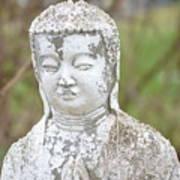 Weathered Buddha Statue Art Print