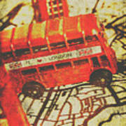 Weathered Bus Routes Art Print