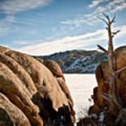 Weathered - Pathfinder Reservoir - Wyoming Art Print