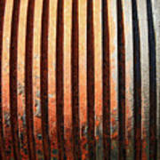 Weathered Metal With Rows Art Print