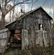 Weathered Old Abandoned Barn Art Print