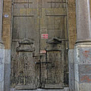 Weathered Old Door On A Building In Palermo Sicily Art Print