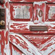 Weathered Red Door 1 Art Print