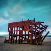 Weathered Rusting Shipwreck Art Print
