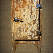 Weathered Rusty Refrigerator Art Print