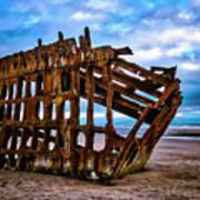 Weathered Shipwreck Art Print