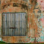 Weathered Wall  Art Print
