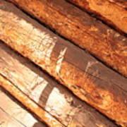Weathered Wood Log Cabin Art Print