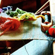 Weaving Supplies Art Print