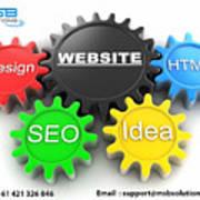 Web Design And Development Company In Adelaide  Art Print