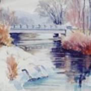 Weber River Bridge Art Print