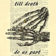 Wedding Gift, Till Death Do Us Part Art Print