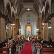 Wedding In Manila Cathedral Art Print