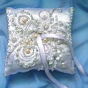 Wedding Ring Pillow. Ameynra Beadwork Art Print