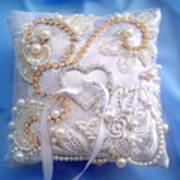 Weding Ring Pillow. Ameynra Design Art Print