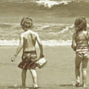 Wee Beachcombers Art Print