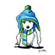 Wee Winter Westie Art Print