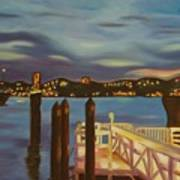 Weehawken From Pier 78 Art Print by Milagros Palmieri