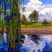 Weeping Willow - Brush Colorado Art Print