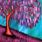 Weeping Willow II Art Print by Brenda Higginson