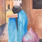 Weeping Woman  Art Print
