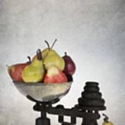 Weighing Pears Art Print