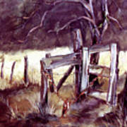 Weighted Gate -feather River Park Art Print
