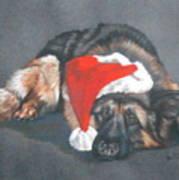 Weihnachtshund Art Print