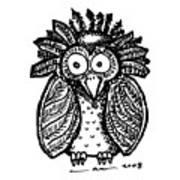 Weird O Bird Art Print