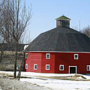 Welch Round Barn Art Print