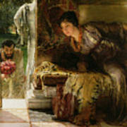 Welcome Footsteps Art Print by Sir Lawrence Alma-Tadema