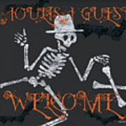 Welcome Ghoulish Guests Art Print