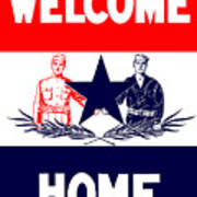 Vintage Welcome Home Military Sign Art Print