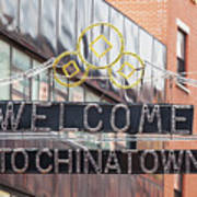 Welcome To Chinatown Sign In Manhattan Art Print