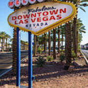 R.i.p. Welcome To Downtown Las Vegas Sign Day Art Print