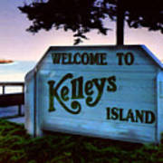 Welcome To Kelleys Island Art Print