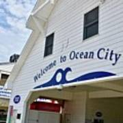 Welcome To Ocean City Maryland Art Print