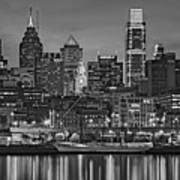 Welcome To Penn's Landing Bw Art Print
