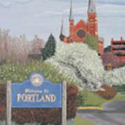 Welcome To Portland Art Print