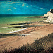 Welcome To Saltdean An Imaginary Postcard Art Print