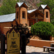 Welcome To Santuario De Chimayo Art Print