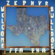 Welcome To Zephyr Texas Art Print