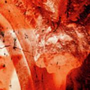 Wells Cathedral Gargoyles Color Negative B Art Print
