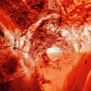 Wells Cathedral Gargoyles Color Negative H Art Print