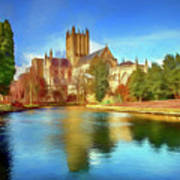Wells Cathedral Art Print