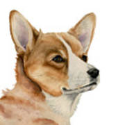 Welsh Corgi Dog Painting Art Print