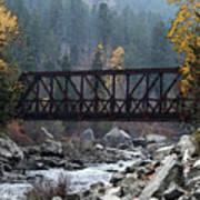 Wenatchee Bridge Digital Painting Art Print