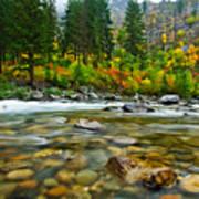 Wenatchee River Print by Dan Mihai